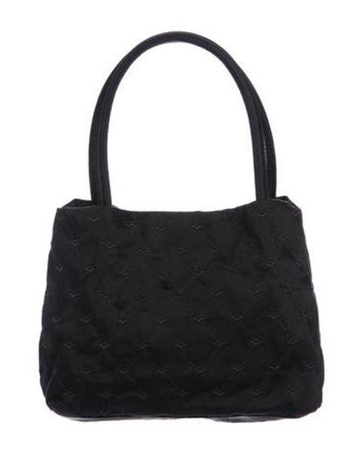 8a5822a62d1 Bottega Veneta - Black Vintage Satin Handle Bag - Lyst ...