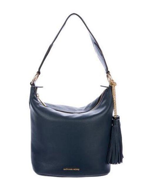 9db7d45fe4e5 MICHAEL Michael Kors - Metallic Michael Kors Large Brooklyn Shoulder Bag W   Tags Gold ...