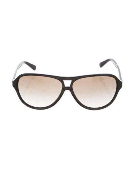 385f2b2ca4 Michael Kors - Metallic Wainscott Aviator Sunglasses Black - Lyst ...
