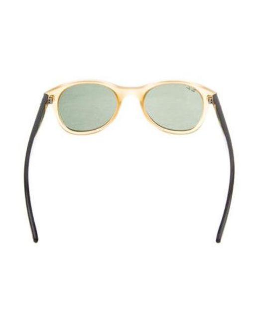 997f1aa046 ... Ray-Ban - Metallic Round Tinted Sunglasses Brown - Lyst ...