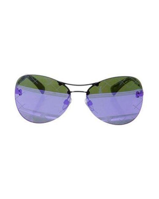f5f8f36ccffd Chanel - Metallic 2016 Mirrored Pilot Sunglasses Silver - Lyst ...