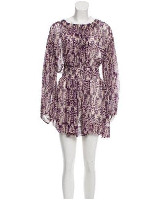 Étoile Isabel Marant - Purple Silk Mini Dress - Lyst