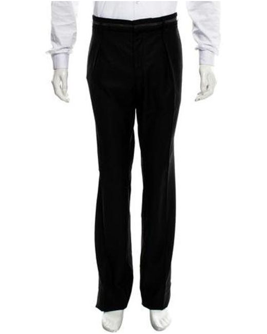 John Galliano - Black Wool Relaxed Pants W/ Tags for Men - Lyst