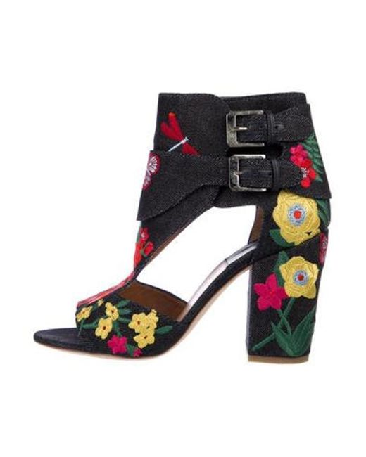 d33f569908e Laurence Dacade - Blue Embroidered Denim Sandals - Lyst ...