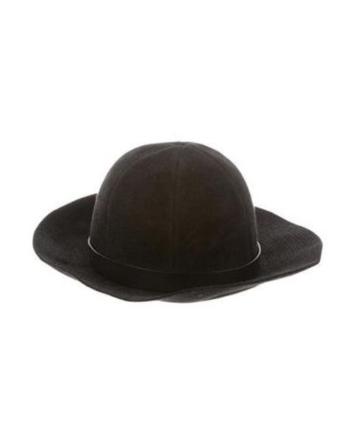 c53b0055b202a2 Lanvin - Black Leather-trimmed Fur Felt Hat for Men - Lyst ...