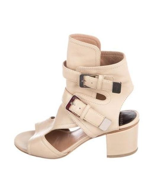 bd97d30ced5 Laurence Dacade - Metallic Leather Caged Sandals Tan - Lyst ...