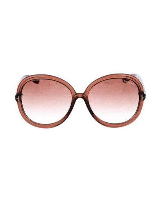 5200df68a38b8 Tom Ford - Metallic Candice Gradient Sunglasses Brown - Lyst ...