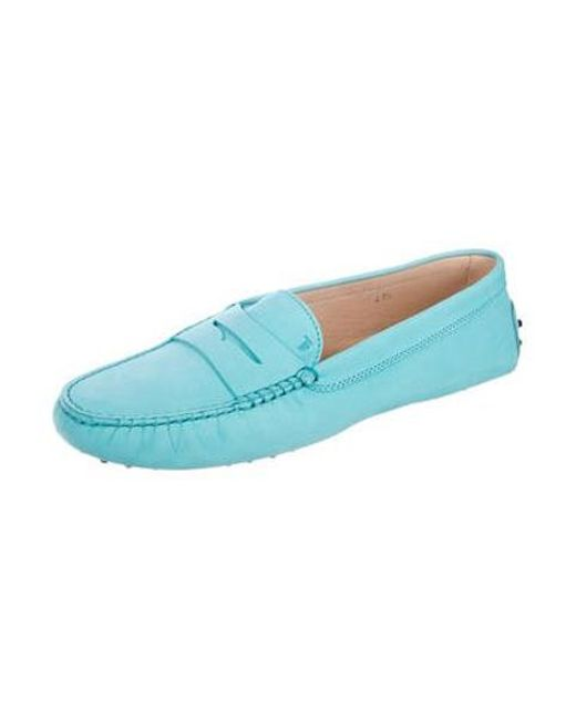 33aaddb5961 Lyst - Tod S Suede Driving Loafers in Blue