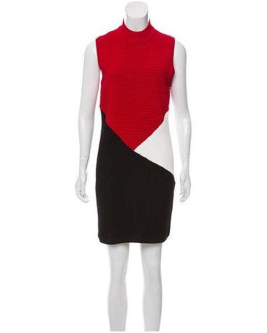5f6c9f1d01 Rebecca Minkoff - Red Colorblock Mini Dress - Lyst ...