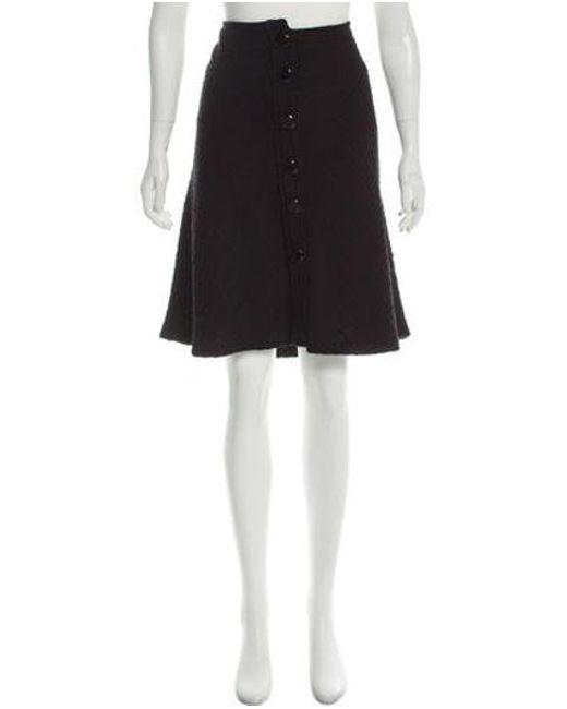 Etro - Black Wool Knee-length Skirt - Lyst