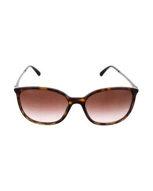 a6850c85aad Chanel - Metallic Strass Cat-eye Sunglasses Brown - Lyst ...