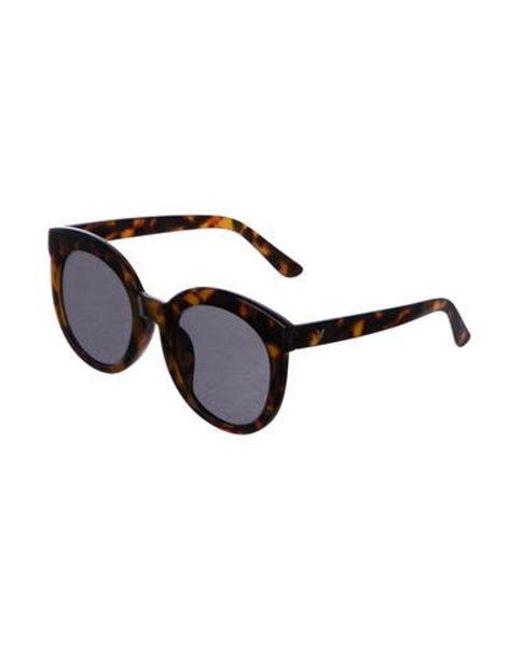 63aafdc55d ... Gentle Monster - Brown Round Tortoiseshell Sunglasses - Lyst ...