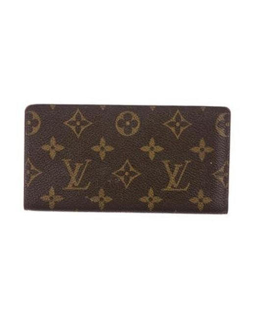 cdb296544194 Louis Vuitton - Natural Monogram Checkbook Holder Brown - Lyst ...