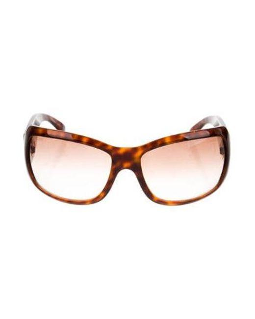e59164b6fdb Chanel - Metallic Tortoiseshell Cc Sunglasses Brown - Lyst ...