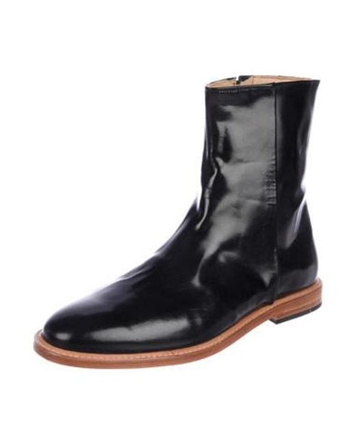1f47efa3d88 ... Dieppa Restrepo - Black Leather Ankle Boots - Lyst ...