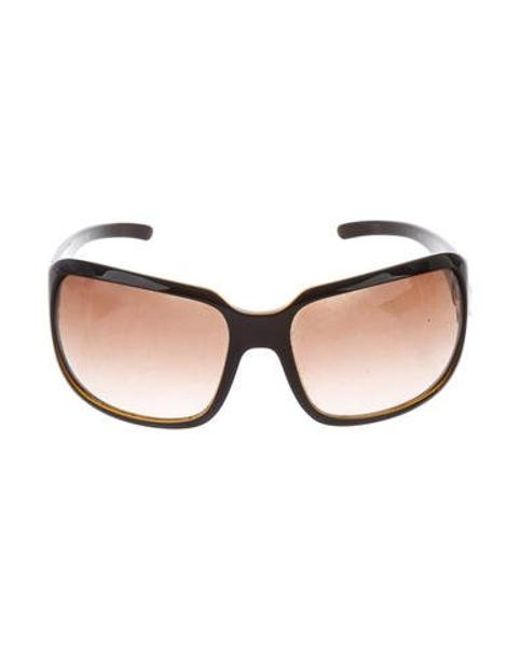 ff1a02b88cd Chanel - Metallic Oversize Cc Sunglasses Black - Lyst ...