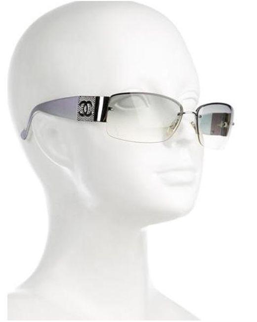 660100eeb23a ... Chanel - Blue Strass Cc Sunglasses - Lyst