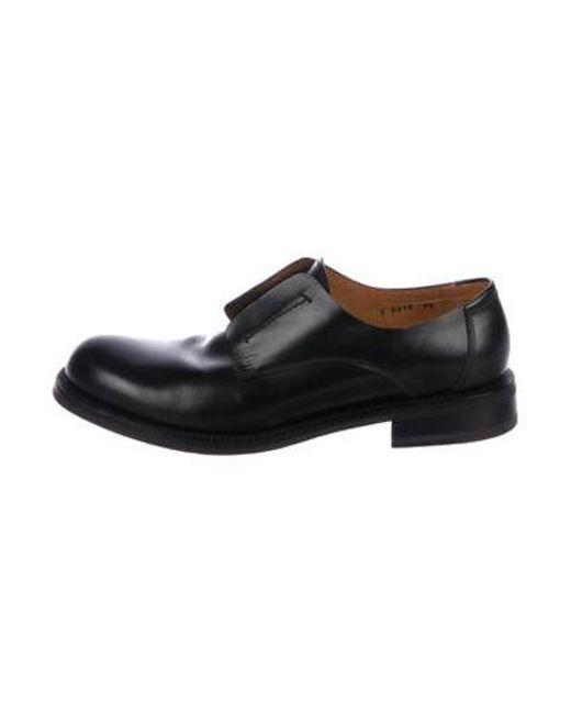 9d18bf646f6 Jil Sander - Black Leather Round-toe Loafers for Men - Lyst ...