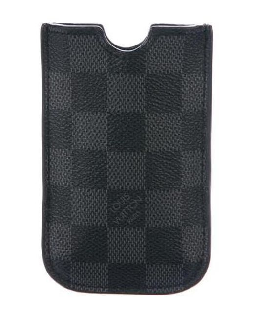 Louis Vuitton - Black Damier Graphite Iphone 4 Case for Men - Lyst