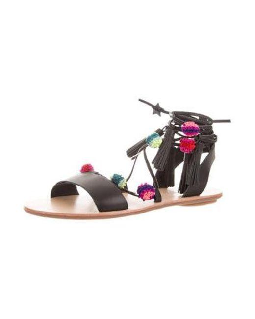 04b8ab8e4552 ... Loeffler Randall - Black Suze Lace-up Sandals W  Tags - Lyst ...