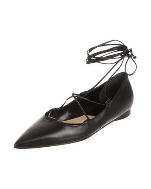 8fa1831c7f6f20 ... Michael Kors - Black Kallie Lace-up Flats - Lyst ...