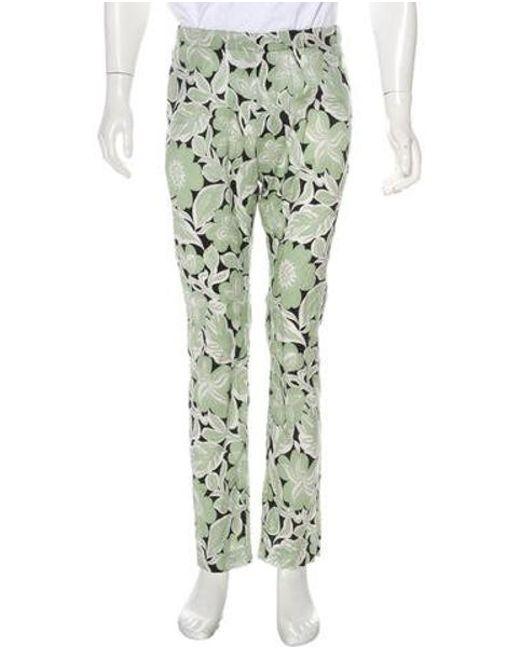 8559d2de57d7 Dries Van Noten - Black Floral Woven Pants for Men - Lyst ...