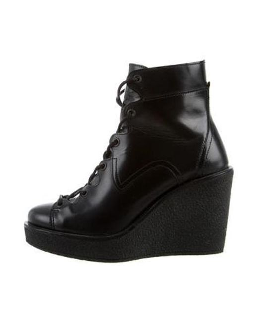 0fd048251e7 Pierre Hardy - Black Leather Wedge Ankle Boots - Lyst ...