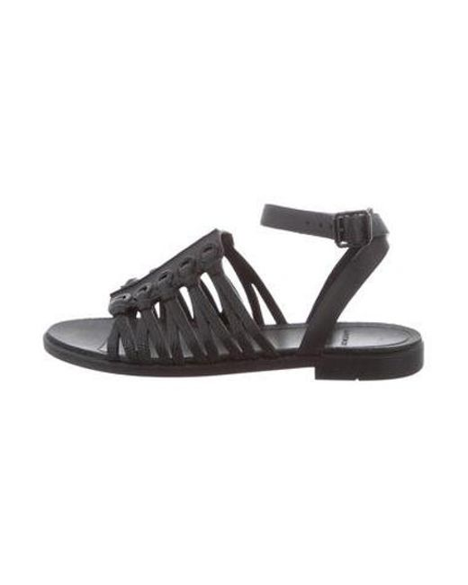 Givenchy - Black Embossed Rubber Sandals - Lyst