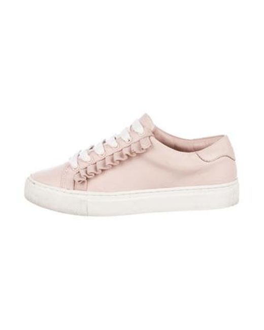 a1b07da0cd81 Tory Burch - Pink Leather Low-top Sneakers - Lyst ...