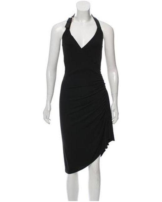 d01f885cf184 Michael Kors - Black Bodycon Ruffled Dress - Lyst ...