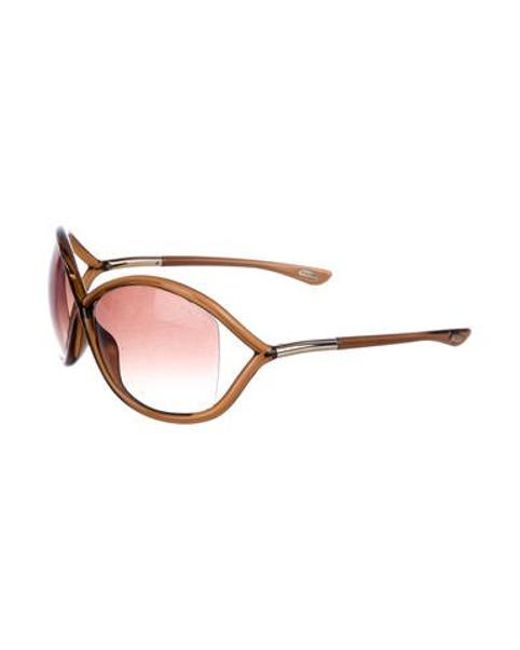 9087a126293 ... Tom Ford - Metallic Whitney Gradient Sunglasses Brown - Lyst ...