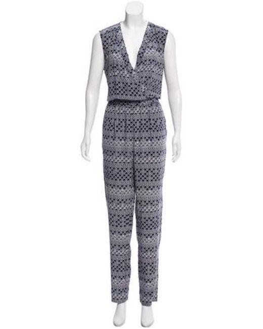 30683b394b1 Diane von Furstenberg - Blue Rawena Silk Jumpsuit Navy - Lyst ...