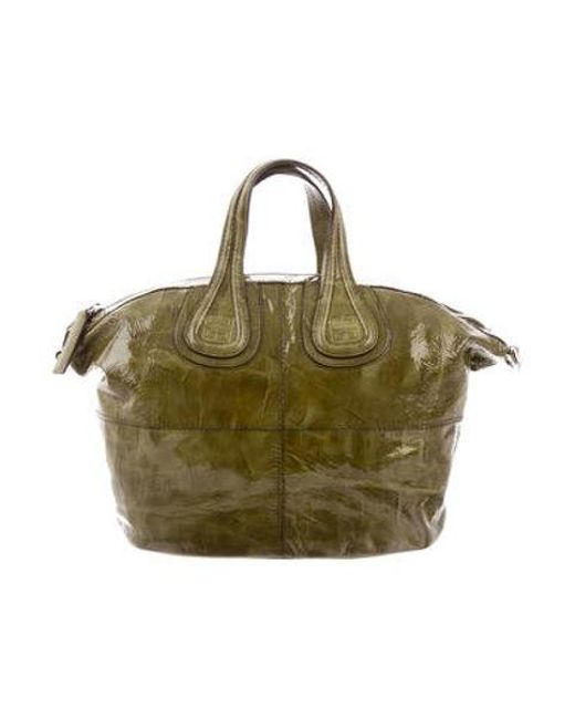6ddcde2a6adc Givenchy - Metallic Small Nightingale Bag Olive - Lyst ...