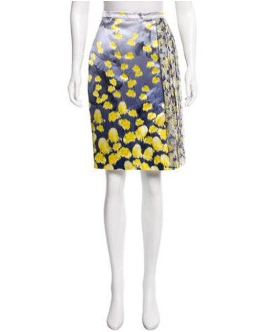 703ef9d85f Prabal Gurung - Gray Silk-blend Skirt Blue - Lyst ...