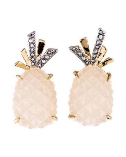 Alexis Bittar - Metallic Pineapple Clip-on Earrings Gold - Lyst