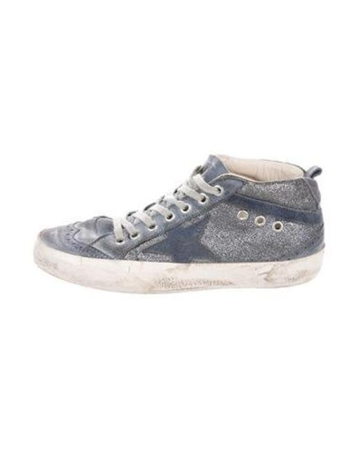 1a72651d384c Golden Goose Deluxe Brand - Metallic Distressed Star Sneakers Blue - Lyst  ...