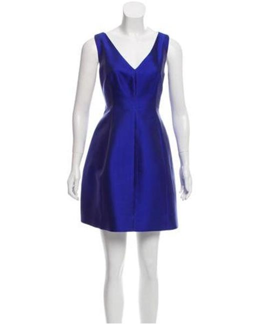 e3f5c3a3b6 Kate Spade - Blue Sleeveless V-neck Mini Dress - Lyst ...