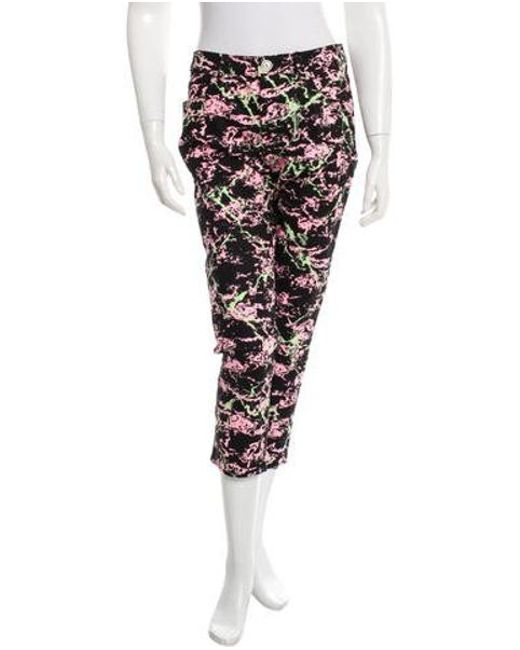 Love Moschino - Black Printed Cropped Jeans W/ Tags - Lyst