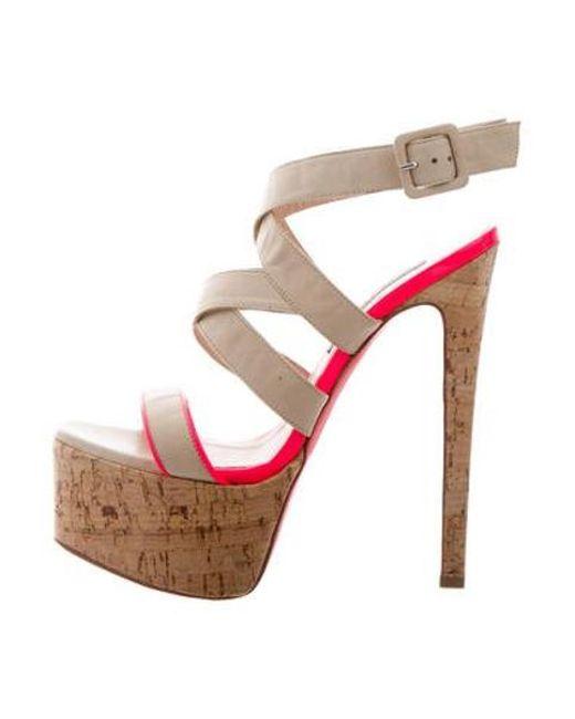 69ac8a66a44 Ruthie Davis - Natural Crossover Platform Sandals Tan - Lyst ...