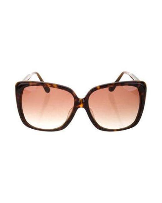 9e56af2997d Dita - Metallic Tortoiseshell Holiday Sunglasses Brown - Lyst ...