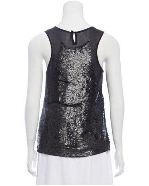 9d884e6296da8 ... Gryphon - Black Silk Sequin-embellished Top - Lyst