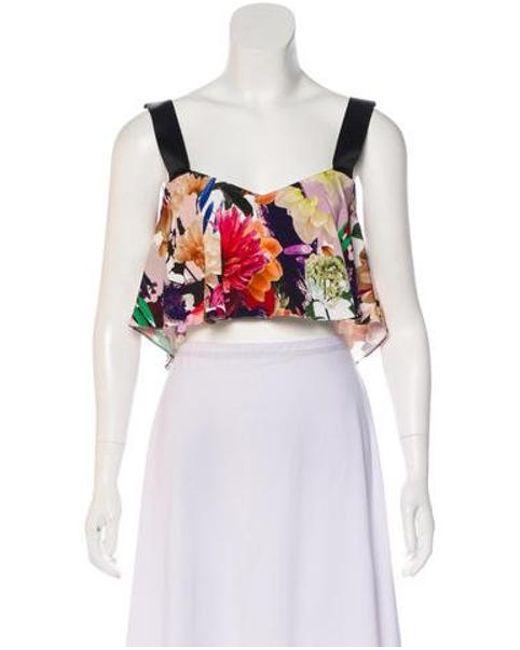 ba16cf3d643c0 Cushnie et Ochs - Floral Crop Top W  Tags Multicolor - Lyst ...