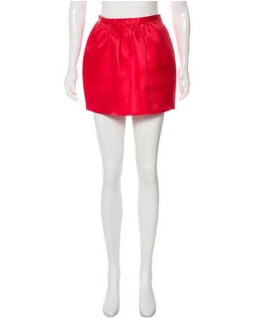 Emilia Wickstead - Red Pleated Mini Skirt - Lyst