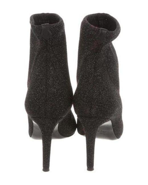 cf8ae71093366 ... Giuseppe Zanotti - Metallic Glitter Sock Booties - Lyst