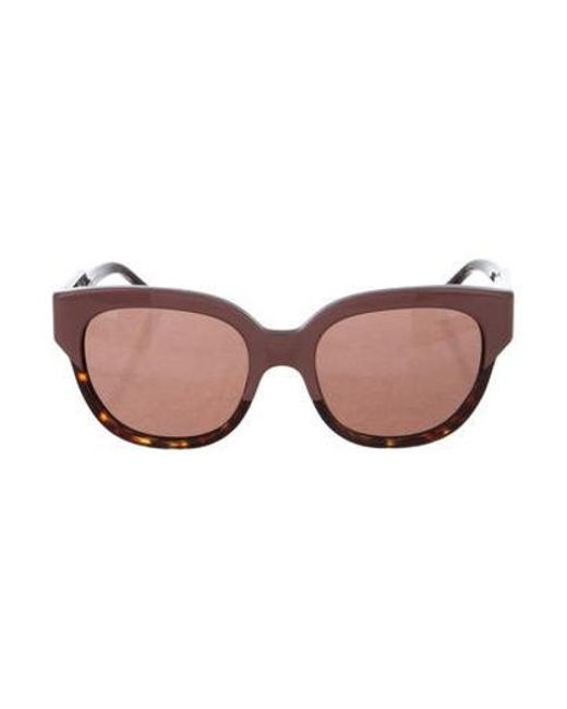 9523d05736 Stella McCartney - Metallic Oversize Tinted Sunglasses Mauve - Lyst ...