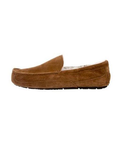 5df29d0b1ea8 Ugg - Natural Ascot Suede Slippers Neutrals for Men - Lyst ...