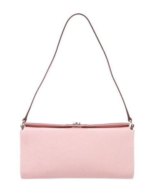039657c2994f Ferragamo - Metallic Leather Shoulder Bag Pink - Lyst ...