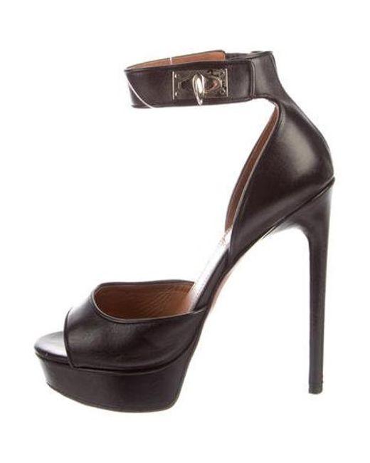 2f5223e7208 Givenchy - Black Leather Platform Sandals - Lyst ...