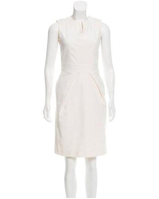 4e78d1bfb5b Piazza Sempione - White Silk-blend Sheath Dress - Lyst ...