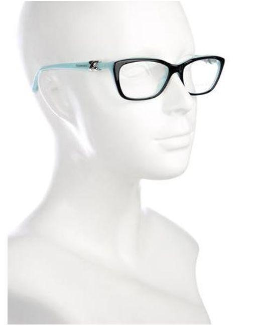 8d6330d0ef8 ... Tiffany   Co - Metallic Square Logo Eyeglasses Black - Lyst